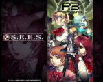 aegis aegis_(persona) arisato_minato atlus blonde_hair blue_hair bow brown_eyes brown_hair digital_media_player eika_(artist) evoker hair_over_one_eye headphones kirijou_mitsuru persona persona_3 red_eyes redhead ribbon takeba_yukari wallpaper yamagishi_fuuka yuuki_makoto