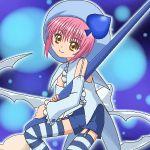 1girl amulet_spade awa hinamori_amu lowres magical_girl oekaki shugo_chara! solo spade thigh-highs