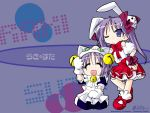 animal_ears blue_eyes blue_hair bunny_girl cat_ears cosplay dejiko dejiko_(cosplay) di_gi_charat hiiragi_kagami hiiragi_tsukasa lucky_star rabbit_ears usada_hikaru usada_hikaru_(cosplay) wallpaper yoshimizu_kagami