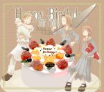 00s birthday cake food hasekura_rei maria-sama_ga_miteru pastry pleated_skirt school_uniform serafuku shimazu_yoshino skirt torii_eriko