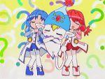 2girls animated animated_gif dancing fine fushigiboshi_no_futago_hime lowres multiple_girls pantyhose pumo red_skirt rein screencap skirt