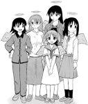 5girls azumanga_daioh child cosplay crossover greyscale haibane_renmei hikari_(haibane_renmei) hikari_(haibane_renmei)_(cosplay) kana kana_(cosplay) kana_(haibane_renmei) kana_(haibane_renmei)_(cosplay) kasuga_ayumu lowres mihama_chiyo mizuhara_koyomi monochrome multiple_girls nemu nemu_(cosplay) parody rakka rakka_(cosplay) reki reki_(cosplay) sakaki short_twintails takino_tomo twintails