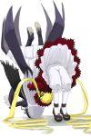 00s bloomers dress flower frills german_suplex long_hair mary_janes rose rozen_maiden shinku shoes suigintou suplex underwear wrestling