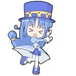 >_< 1girl closed_eyes fushigiboshi_no_futago_hime lowres oekaki pantyhose rein solo