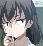00s 0verflow 1girl black_hair game_cg lowres saionji_sekai school_days solo troll_face
