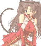 1girl animal_ears cat_ears cat_tail fate/stay_night fate_(series) kaleido_ruby lowres solo tail tohsaka_rin two_side_up