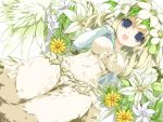blue_eyes elbow_gloves elle_(lom) feathers flower gloves legend_of_mana monster_girl nature sanoharu seiken_densetsu siren smile wings