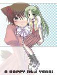 animal_ears crossdressing dress higurashi_no_naku_koro_ni maebara_keiichi ribbon sonozaki_mion