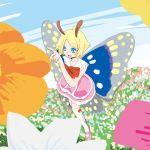 antennae butterfly crossdressing fairy katou_kouki mary_janes pink_shoes shimon shimotsuma shoes wings