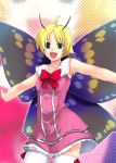 1boy antennae blonde_hair butterfly fairy insect_wings male_focus shimon shimotsuma solo thigh-highs trap wings
