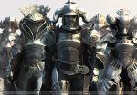 1girl 4boys armor belt cape final_fantasy final_fantasy_xii full_armor gabranth gabranth_(ff12) gabranth_(final_fantasy) gauntlets helmet judge judge_bergan judge_drace judge_gabranth judge_ghis judge_zargabaath multiple_boys