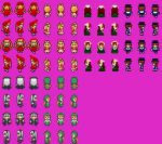 00s 5girls hina_ichigo jissouseki lowres multiple_girls pixel_art rozen_maiden rpg_maker shinku souseiseki suigintou suiseiseki
