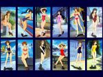 6+girls 90s adachi_taeko ayasaki_wakana bikini black_hair brown_hair collage endou_akira everyone hairband hosaka_miyuki hoshino_asuka loafers long_hair matsuoka_chie morii_kaho multiple_girls nagakura_emiru nanase_yuu official_art one-piece_swimsuit outdoors ponytail sawatari_honoka sentimental_graffiti shoes short_hair sky smile socks sugihara_manami swimsuit yamamoto_rurika