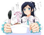 00s 1girl cure_white eating food futari_wa_precure holding holding_spoon kabocha mipple monkey4 precure solo spoon tears translation_request yukishiro_honoka