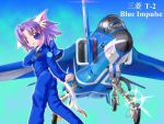 1girl aircraft airplane animal_ears blue_impulse_(team) cat_ears fighter_jet jet military military_vehicle original solo t-2