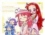 4girls :3 alternate_hairstyle chibi child crossover fine fushigiboshi_no_futago_hime harukaze_doremi lowres multiple_girls ojamajo_doremi redhead rein segawa_onpu