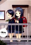 absurdres ant aomurasaki_harusame backpack bag barasui brown_eyes child highres randoseru sakurakinoshita_ashita school_uniform serafuku watashi_no_oniichan