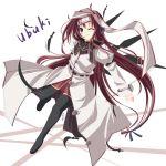 1girl kazumasa mushiuta shirakashi_ubuki solo thigh-highs zettai_ryouiki