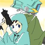 00s canti flcl gun lowres machine_pistol nandaba_naota oekaki weapon