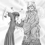 00s 1girl buddha lowres maria-sama_ga_miteru monochrome nijou_noriko sitting solo statue steed_(steed_enterprise) toudou_shimako