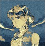 90s armband earrings fushigi_no_umi_no_nadia jewelry lowres nadia neck_ring pendant short_hair vest