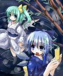 2girls cirno daiyousei female japanese_clothes kimono multiple_girls tanabata tanzaku the_embodiment_of_scarlet_devil touhou yukata yuuki_eishi