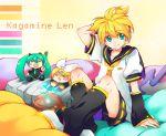 hatsune_miku headphones kagamine_len kagamine_rin vocaloid