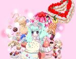 +_+ ? apollo_chocolate artist_request cake candy character_doll checkerboard_cookie chocolate cookie cream cupcake doll food fruit gelatin hatsune_miku ice_cream kaito lollipop macaron pastry sprinkles strawberry sweets swirl_lollipop vocaloid