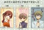 breasts brown_hair child couple female_protagonist_(persona_3) ichimatsu_shiro if_they_mated long_hair persona persona_3 persona_3_portable short_hair short_twintails smile translated twintails