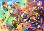 6+boys 6+girls animal_ears armlet armor backpack bag baseball_bat baseball_cap belt black_hair blonde_hair blue_eyes blue_hair bodysuit boots bowser bracelet brown_hair bunny_ears cape captain_falcon charizard cloak closed_eyes cloud coat crown diddy_kong donkey_kong dress english everyone f-zero facial_hair falco_lombardi fire_emblem flower flying fox_mccloud ganondorf gloves group gun hanokage happy hat headband helmet highres ice_climber ice_climbers ike ivysaur jacket jewelry jigglypuff kid_icarus king_dedede kirby kirby_(series) link long_hair lucario lucas luigi mario marth master_sword meta_knight metal_gear_solid metroid mother_(game) motor_vehicle motorcycle mr._game_&_watch mustache nana_(ice_climber) ness nintendo olimar open_mouth overalls parachute pikachu pikmin pikmin_(creature) pit pokemon ponytail popo_(ice_climber) princess_peach princess_zelda r.o.b rainbow red_hair robot samus_aran sandals scarf shield short_hair shorts sky smile solid_snake sonic sonic_the_hedgehog spacesuit spikes squirtle star star_fox super_mario_bros. super_smash_bros. super_smash_bros_brawl sword t-shirt tail the_legend_of_zelda toon_link vehicle wallpaper wario wario-man warioware weapon wings wolf_o'donnell yoshi zero_suit