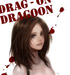 blood blood_splatter brown_hair drag-on_dragoon furiae grey_eyes lips long_hair smile tea_(pixiv) tea_(retroz) title_drop