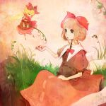 blonde_hair doll flower flying green_eyes hair_ribbon lily_of_the_valley medicine_melancholy ribbon su-san touhou wings xxxxakixxxx