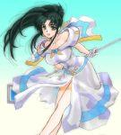 1girl green_hair jochuu-san lowres oekaki original solo yagisaka_seto