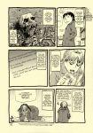 abe_yoshitoshi comic death hard_translated highres moe moetan monochrome mushroom satire skeleton skull translated translation_request