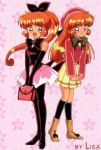 1girl 90s dual_persona elbow_gloves gloves haneoka_meimi kaitou_saint_tail lowres magical_girl pantyhose saint_tail school_uniform serafuku