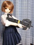 00s bob_cut bullpup doll gun gunslinger_girl henrietta p90 photo submachine_gun weapon