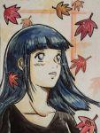 1girl artist_request blue_hair hyuuga_hinata long_hair naruto naruto_shippuuden pts solo