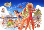 6+boys 6+girls 90s aircraft anklet artist_request ass back balrog bandeau baseball_bat beach beach_umbrella beard bent_over bikini bikini_tan blanka blanket blindfold blonde_hair bracelet braid brown_hair buried cammy_white camouflage can capcom casual_one-piece_swimsuit chair chun-li clouds cross dark_skin dee_jay dhalsim dirigible double_bun drink earrings edmond_honda eliza_masters everyone facial_hair feathers feet fei_long final_fight fishing fishing_rod flag flat_chest food fruit gouki green_skin grin guile hat headband headphones hot_air_balloon inflatable_raft innertube instrument japan jewelry ken_masters legs lifeguard lipstick log long_hair lounge_chair lying makeup male_swimwear maracas mexican midriff multiple_boys multiple_girls muscle nail nail_bat native_american navel necklace nishimura_kinu on_back on_stomach one-piece_swimsuit outdoors palm_tree parachute peaked_cap pink_hair poison_(final_fight) ponytail raft redhead ryuu_(street_fighter) sagat sandals shark shop short_hair shorts side-tie_bikini sitting sky skywriting smile squatting standing strapless straw_hat street_fighter street_fighter_ii street_fighter_ii_(series) striped sunglasses sunglasses_on_head swim_briefs swim_trunks swimsuit swimwear tan tanline thong_bikini thunder_hawk top_hat tree tubetop twin_braids umbrella vega water watermelon zangief