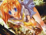 1girl crazy_eyes higurashi_no_naku_koro_ni kneehighs ryuuguu_rena socks solo tororo