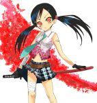 maro_nie miniskirt oneechanbara saki_(oneechanbara) skirt sword weapon