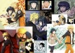1boy 1girl can chopsticks collage couple forehead_protector hetero hyuuga_hinata keroyon-jima kyuubi multiple_tails naruto tail uzumaki_naruto whisker_markings
