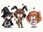 >_< 3girls ^_^ animal_ears animated animated_gif apron asahina_mikuru bangs bare_shoulders bass_guitar black_hair blush_stickers bow bowtie breasts brown_hair bunnysuit cape chibi closed_eyes corset dual_wielding electric_guitar expressionless fake_animal_ears frills full_body grey_hair guitar hair_between_eyes hair_ribbon hairband happy hat holding instrument kneehighs large_breasts lineup loafers long_hair looking_at_viewer maid maid_apron maid_headdress motion_lines multiple_girls music musical_note nagato_yuki neck_ribbon no_nose pantyhose playing_instrument pleated_skirt puffy_sleeves quaver rabbit_ears raised_eyebrows ribbon school_uniform serafuku shadow shirt shoes short_hair short_sleeves simple_background skirt sleeve_cuffs standing strapless suzumiya_haruhi suzumiya_haruhi_no_yuuutsu tambourine twintails white_background witch witch_hat wrist_cuffs xd yellow_eyes