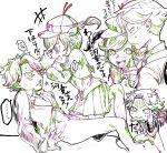 1boy 1girl color_trace deerstalker hat highres multiple_views partially_colored pop'n_music reticulum skirt smile suiri_(pop'n_music) tanaka-san_(pop'n_music) white_background