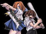 1boy 1girl baseball_bat billhook couple crazy_eyes hatchet hetero higurashi_no_naku_koro_ni kobayashi_tetsuya maebara_keiichi ryuuguu_rena