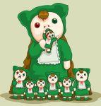 00s 6+girls cannibalism heterochromatic_tears heterochromia jissouseki multiple_girls rozen_maiden tears