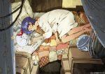 1girl 90s closed_eyes fushigi_no_umi_no_nadia gainaxtop king_(nadia) lion nadia nightshirt ozaki_tomomi short_hair sleeping