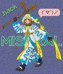 .hack// .hack//games 1girl bandai cyber_connect_2 hack mistral mistral_(.hack//) one_eye_closed solo staff wink