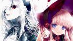 00s 2girls blue_eyes cradle_(artist) kei_(keigarou) kuroya_shinobu multiple_girls pink_hair red_eyes rozen_maiden shinku suigintou white_hair
