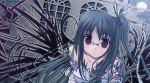 blue_hair glasses kazumasa long_hair violet_eyes