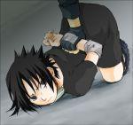 1boy artist_request lowres naruto restrained solo uchiha_sasuke